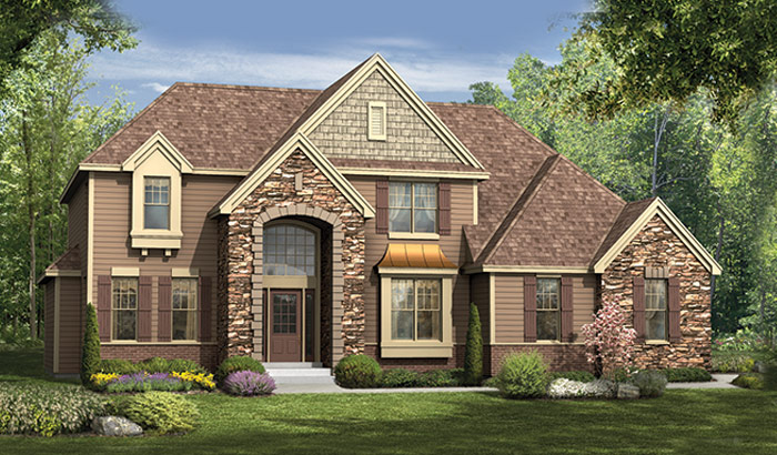 Front Elevation Of The Houses : Two story homes orendorf custom